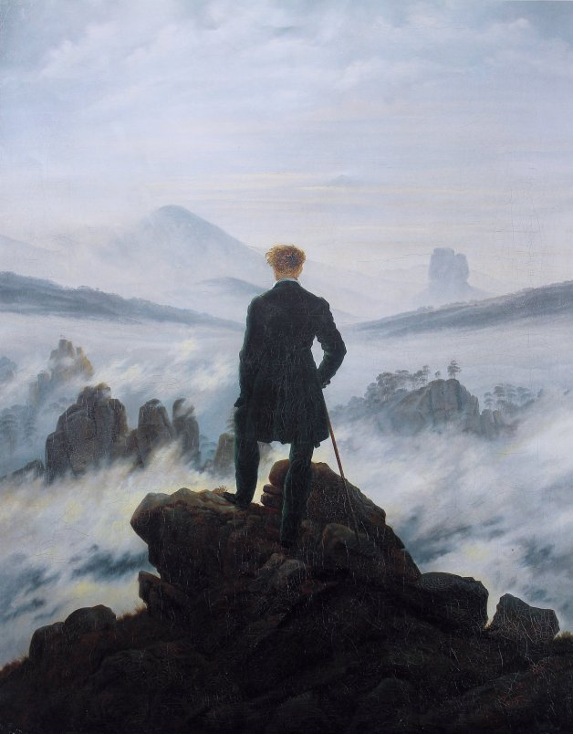 Caspar David Friedrich The wanderer above the sea of fog